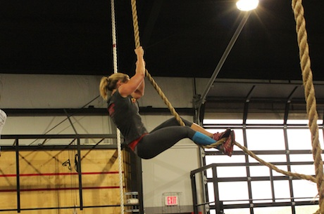 Tracey rope climb