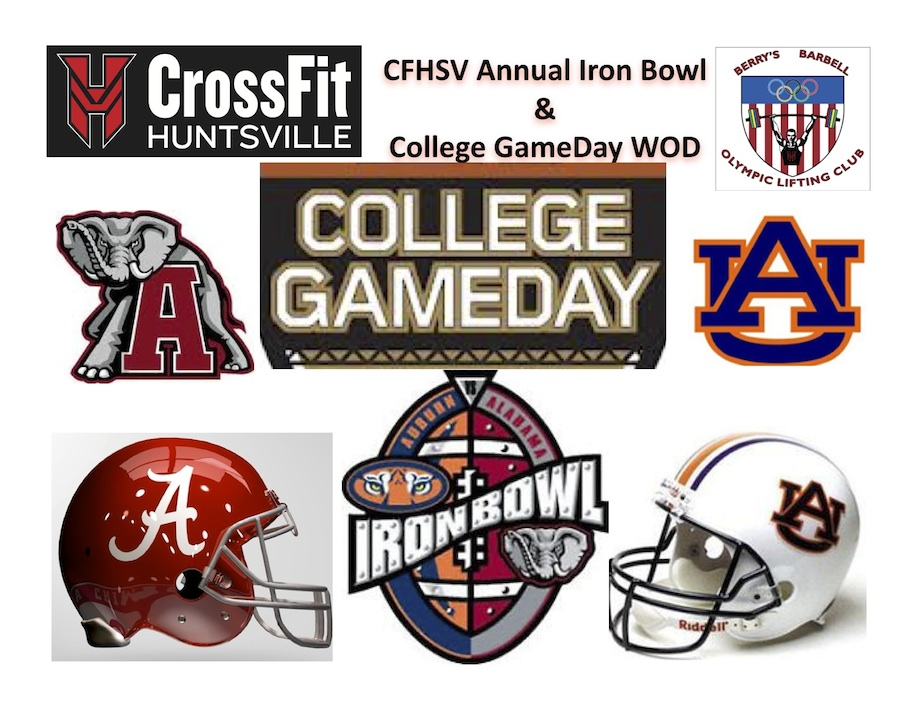 1 CFHSV Annual Iron Bowl GameDay WOD